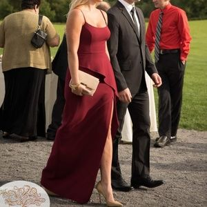 BCBG Maxazria Burgandy Gown